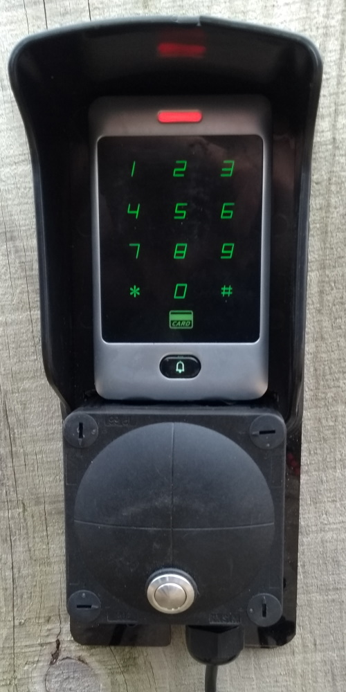 Wireless options for electric gates Keypad
