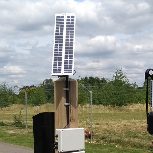 Solar phone gate opener