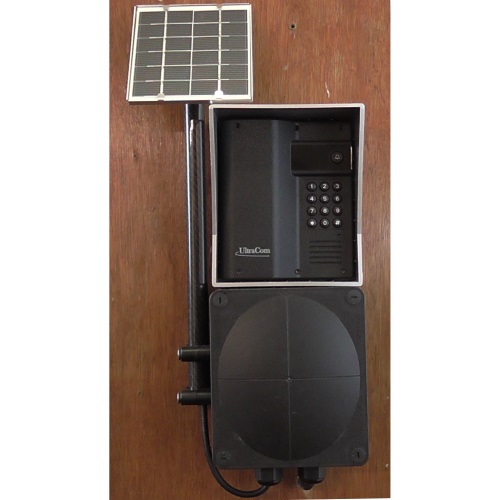 Solar electric gate intercom