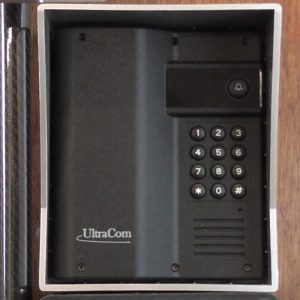 Electric gate keypad intercom